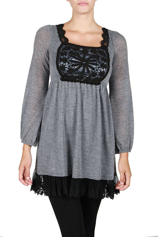 A'reve Black/grey crochet dress