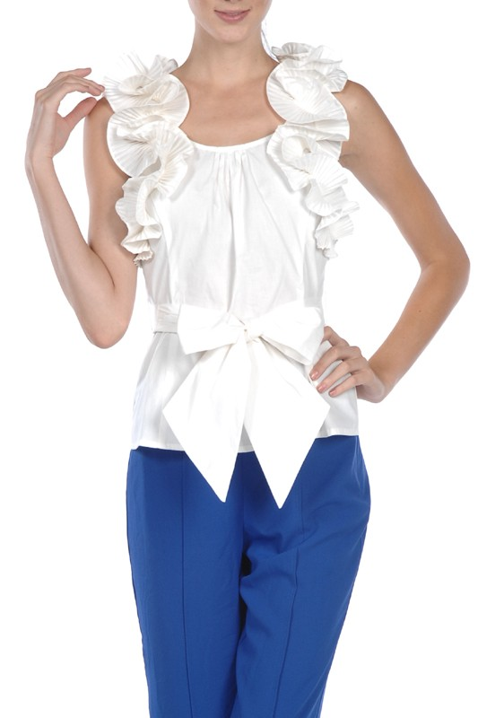Ryu Ruffle Trim Blouse