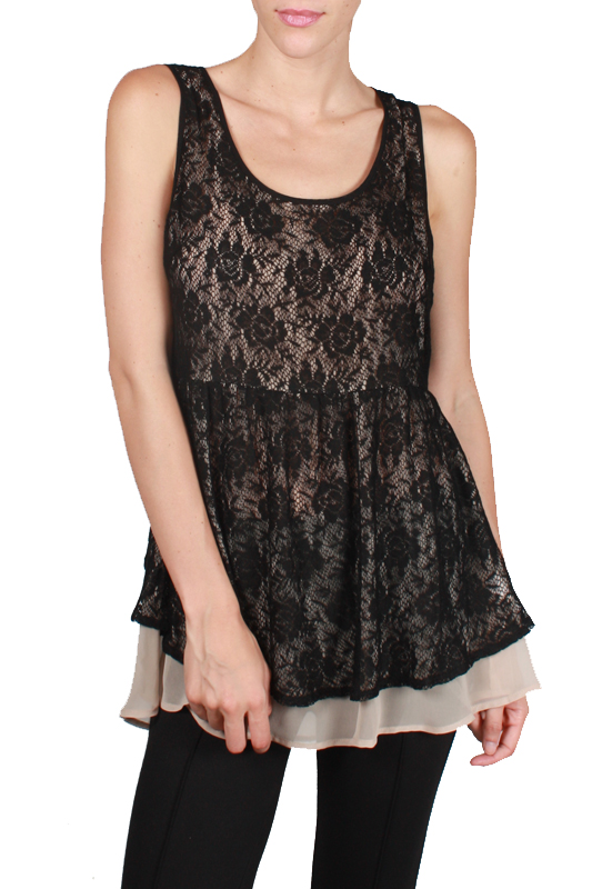 A'reve flower lace top with lining