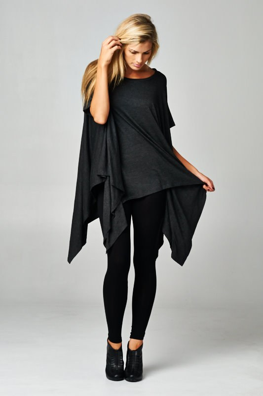 Cherish Asymmetrical Top-Black