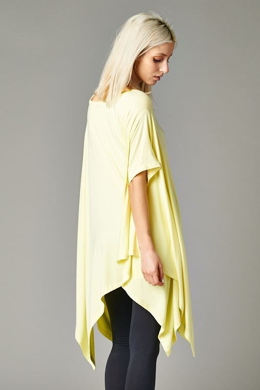 Cherish Asymmetrical Top-Yellow