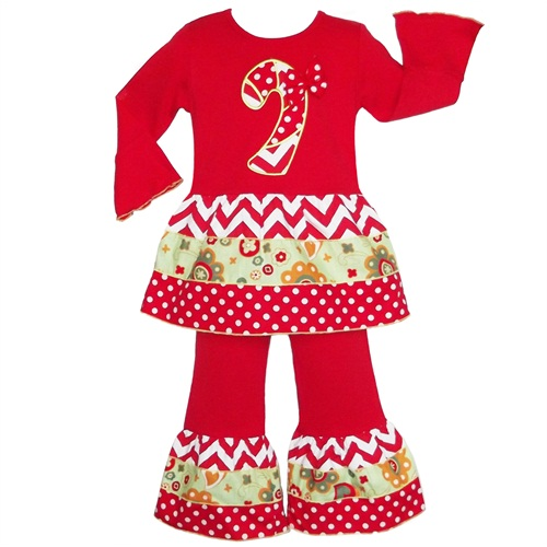 Ann Loren Candy Cane Tunic Set