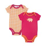 Yoga Sprout 2 pc onesie orange and pink