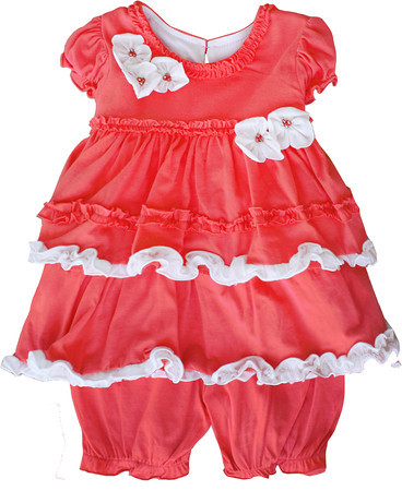 Isobella and Chloe Jelly Bean Coral Bloomer Set
