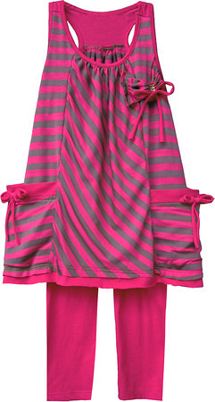 Isobella and Chloe Jersey Girl Magenta Pant Set