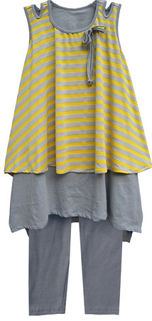 Isobella and Chloe Sun Dance Yellow Pant Set