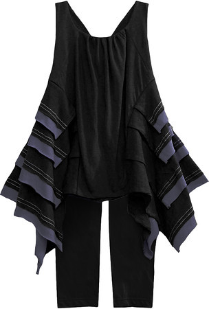 Isobella and Chloe Brooklyn Beauty Black Sleeveless Pant Set