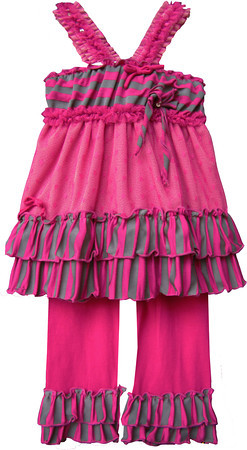 Isobella and Chloe Sassy Sarah Fuschia Pant Set