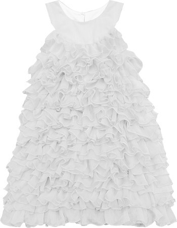 Isobella and Chloe Darleen White Ruffle Dress