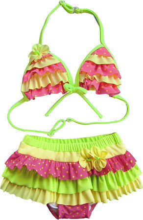 Isobella and Chloe Star Fruit Watermelon Bikini