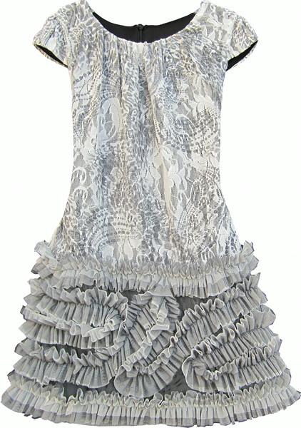 Isobella & Chloe Silver Belle Dress 5&7