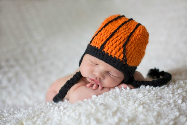 The Daisy Baby Ace Orange Basketball Hat