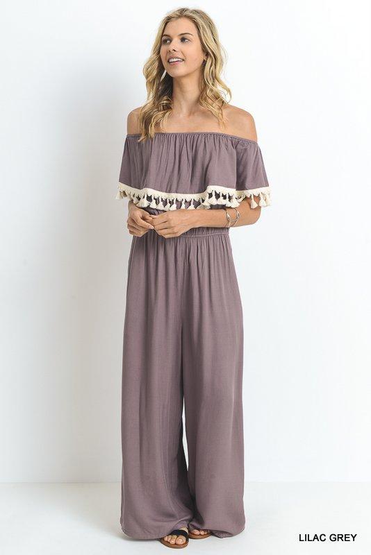 Jodifl Lilac Grey Jumpsuit