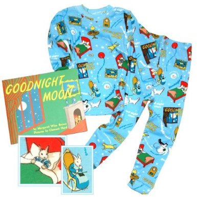 Books to Bed Goodnight Moon Pajamas with Book BLUE
