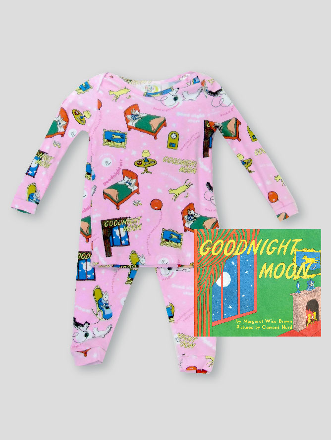 Books to Bed Goodnight Moon Pajamas with Book PINK