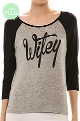 Graphic Print Wifey Top