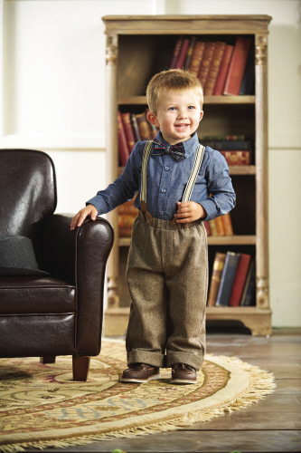 Mud Pie Little Gentleman Tweed Suspender 3 piece Pant Set