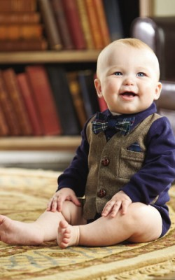 Mud Pie Boys Tweed Vest Crawler � Little Gentlemen