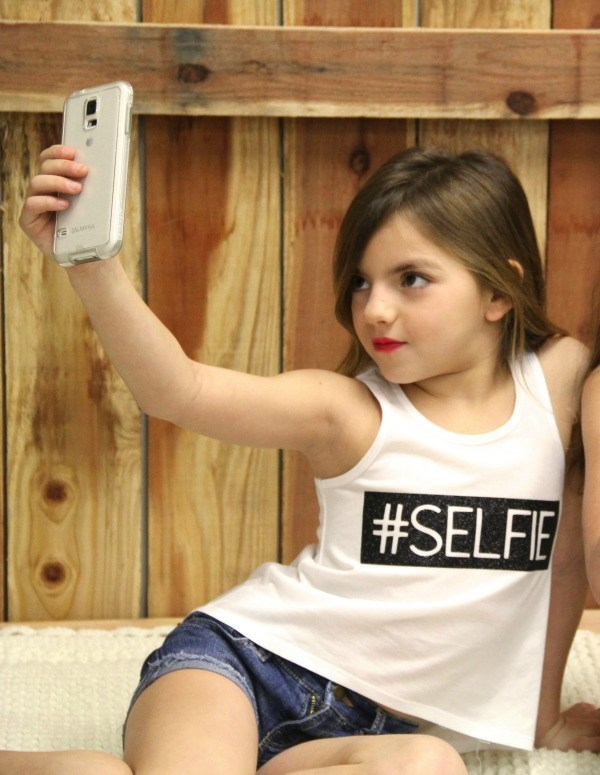Fly Kids Selfie Tank in Black