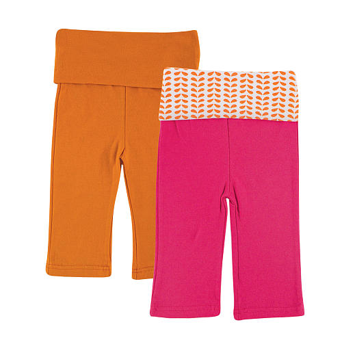 Yoga Sprout 2 pc yoga pant set pink and orange
