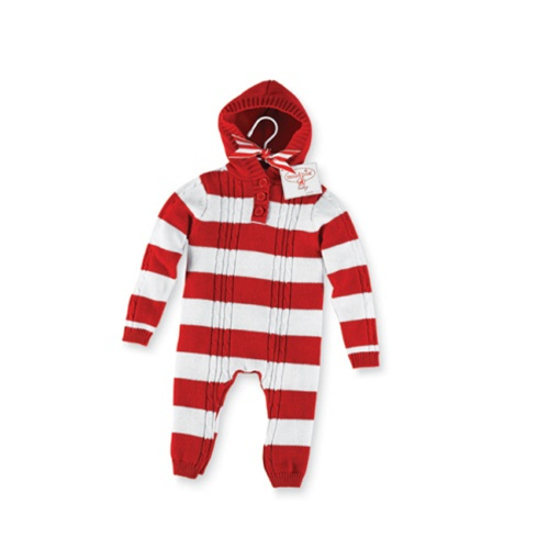 Mud Pie Striped Cable Romper