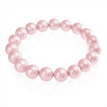 Stretchy Pink Pearl Bracelet