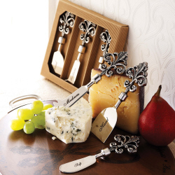Mud Pie Fleur De Lis Cheese Set