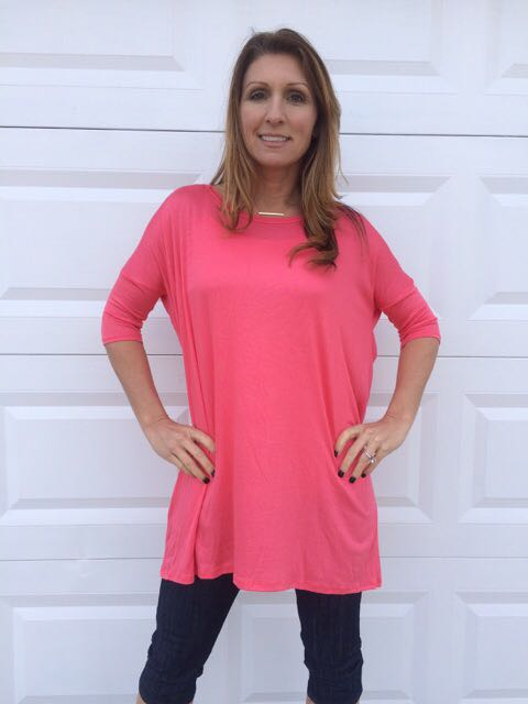 Solid Jersey Coral Top