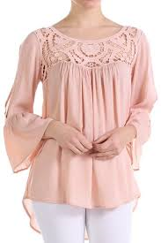 Entro Crochet Trim Blouse