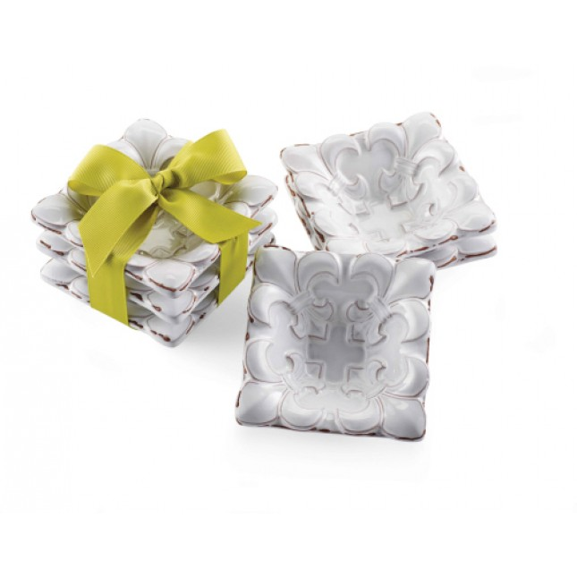 Mud Pie Fleur De Lis Mini Dip Set