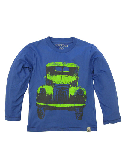 Dogwood Blue Classic Truck Long Sleeved Tee