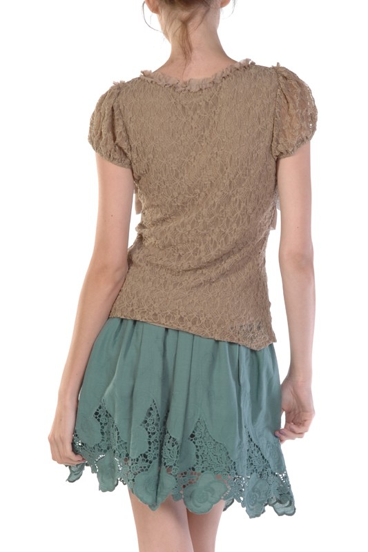 A'reve Pink Ruffled Top