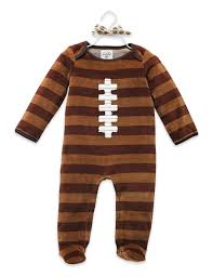 Mud Pie Velour Football One Piece