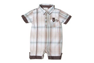 Fore! Axel & Hudson Pool Plaid Romper