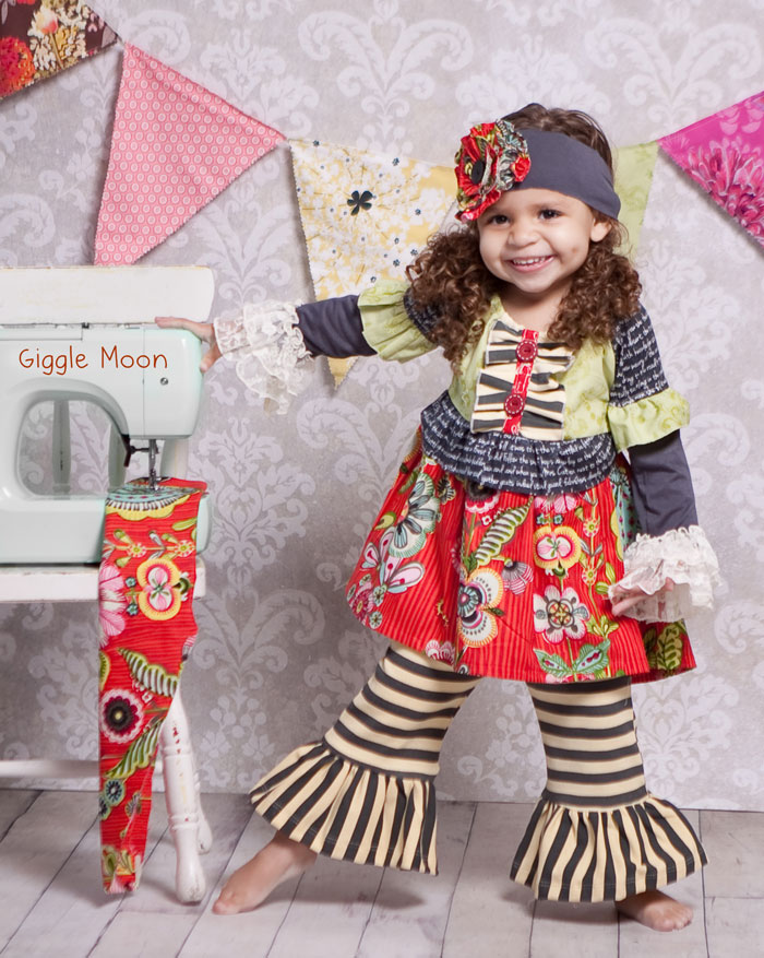 Giggle Moon �Dance for Joy� Gigi Top with Ruffle Pant