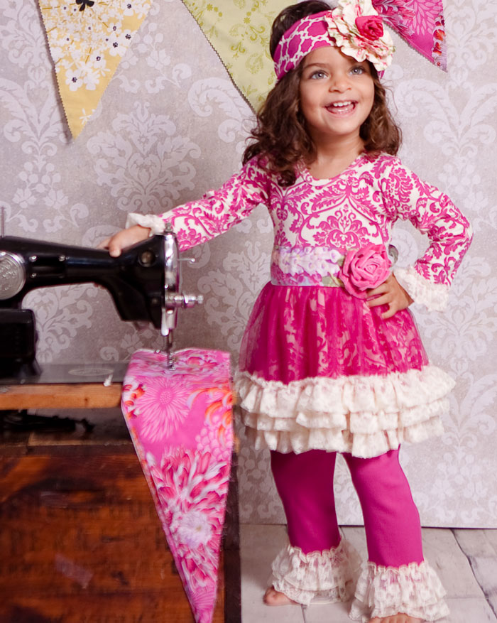 Giggle Moon �Raspberry Truffle� Tutu Dress with Leggings
