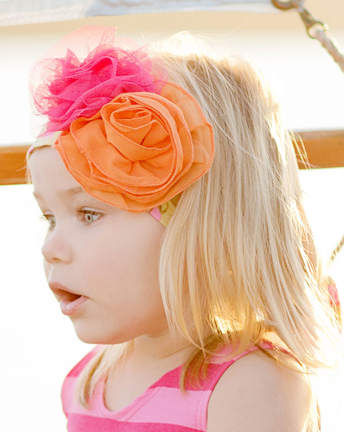 "Giggle Moon ""Morning Glory"" Floral Head Wrap"