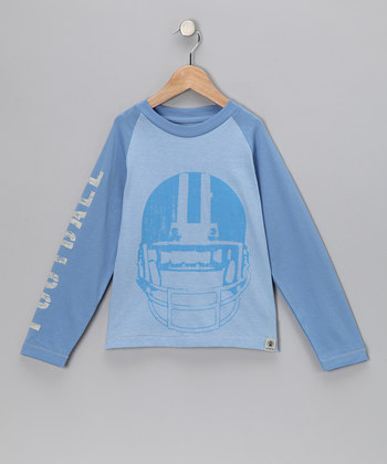 Dogwood Light Blue Football Helmet Tee