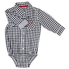 Frenchie Mini Couture Gray Gingham Bodysuit