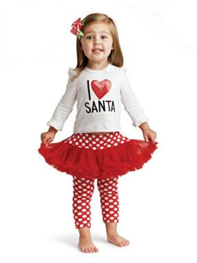 Mud Pie I Love Santa 2 Piece Set