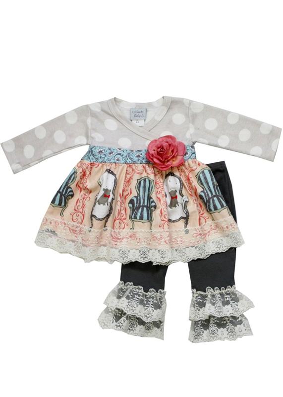 Haute Baby Maddie Jewel Swing Set 3T