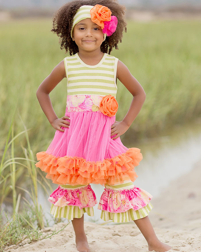 "Giggle Moon ""Morning Glory"" Tutu Dress with Wide Legged Capris"