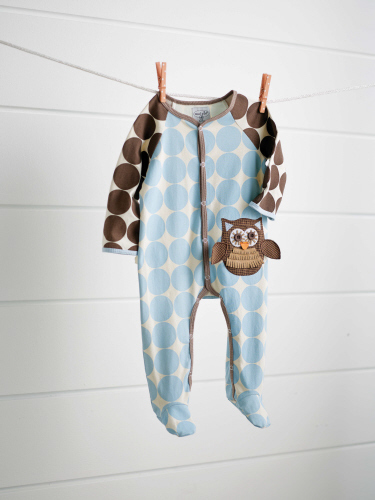 Mud Pie Owl Footed One Piece