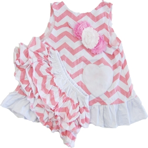 Big Dreamz Pink & White 3 Piece Swing Set