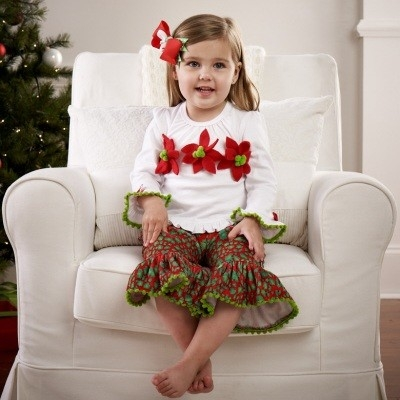 Mud Pie Leopard Poinsettia 2 Piece Set