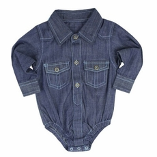 Rugged Butts Denim Bodysuit