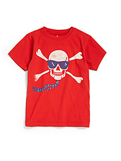 Wes and Willy Red Sunglass Skull Tee