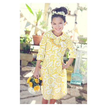 Persnickety Swiss Yellow Dress