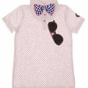 Mini Shatsu bow tie polka dot shirt