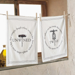 Mud Pie Wine Towel-Twist/Unwined